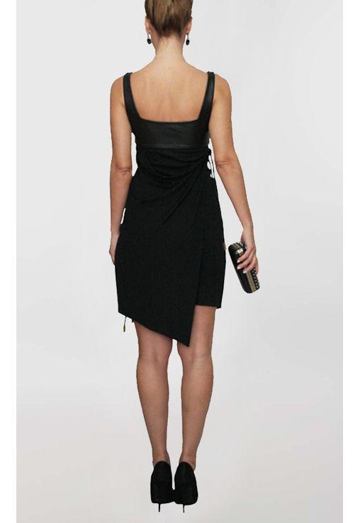 vestido-tricia-curto-com-busto-em-couro-versace-preto