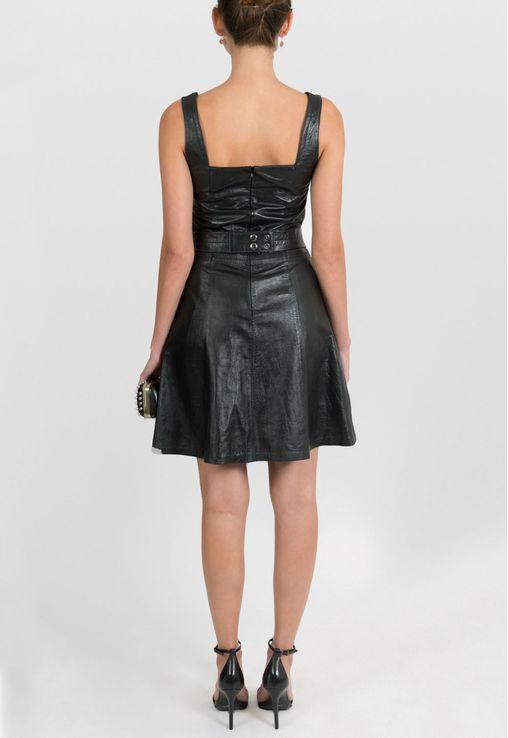 vestido-candice-curto-de-couro-mixed-preto
