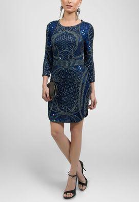 vestido-ametista-curto-de-manga-comprida-todo-bordado-powerlook-azul