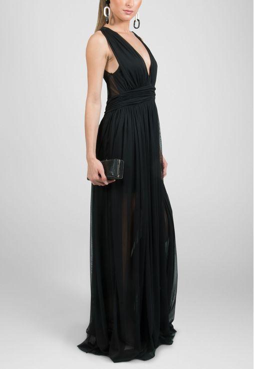 vestido-macau-longo-de-malha-com-decote-e-transparencia-powerlook-preto
