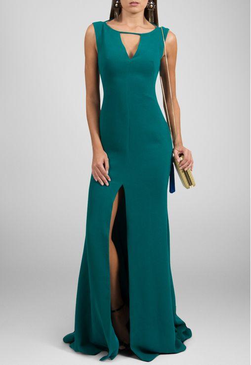 vestido-melanie-longo-com-fenda-frontal-marcelo-quadros-verde
