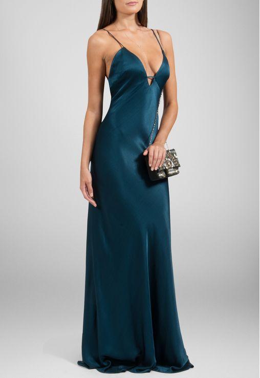 vestido-florida-longo-de-seda-powerlook-verde