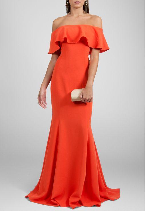 vestido-paraiso-longo-ombro-a-ombro-marcelo-quadros-laranja