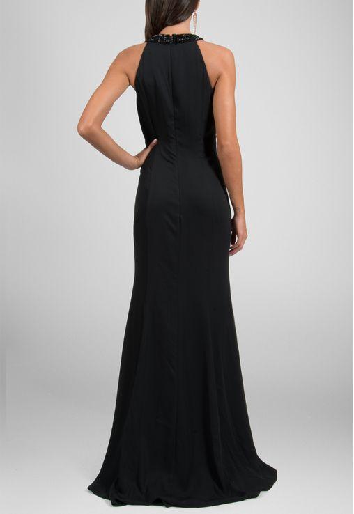 vestido-ticy-longo-com-decote-trapezio-e-fenda-calvin-klein-preto