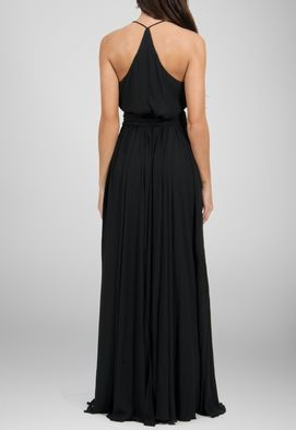 vestido-dafine-longo-fluido-com-tres-fendas-powerlook-preto
