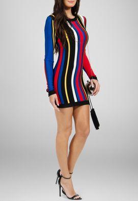 vestido-daniela-curto-de-manga-comprida-de-trico-balmain-estampado