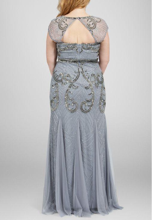 vestido-lilian-longo-bordado-com-manga-japonesa-adrianna-papell-cinza