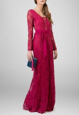 vestido-paloma-longo-de-manga-comprida-todo-de-renda-plissado-powerlook-vinho-magenta