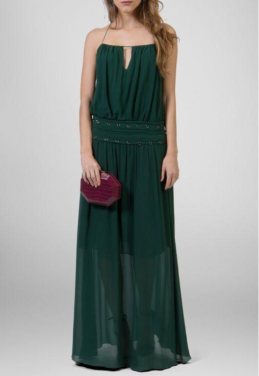 vestido-amber-longo-de-chiffon-com-cintura-baixa-animale-verde