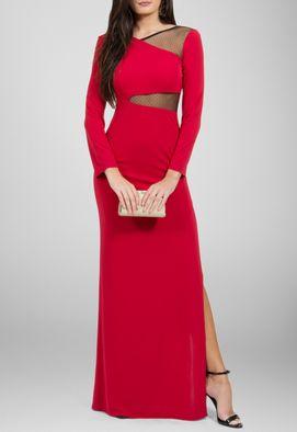 vestido-gilka-longo-de-manga-comprida-de-malha-powerlook-vermelho