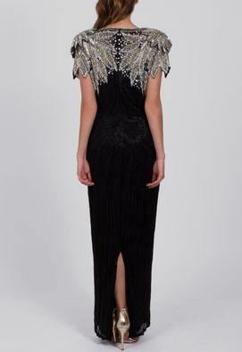 vestido-premium-longuete-busto-e-ombro-bordados-powerlook-preto