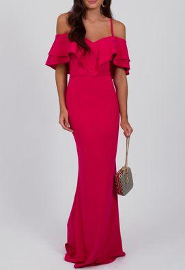 vestido-margie-longo-com-babado-duplo-no-busto-powerlook-rosa-pink