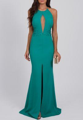 vestido-esmeral-longo-frente-unica-powerlook-verde