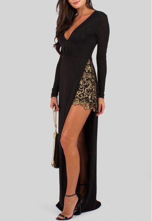 vestido-fabiana-longo-de-manga-comprida-com-short-de-renda-dourado-comporeum-preto