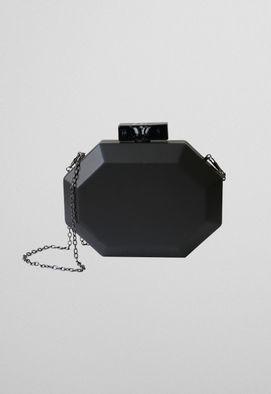 clutch-hexagono-de-couro-preta-powerlook