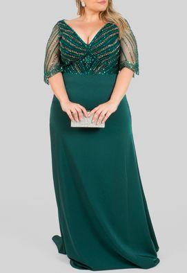 vestido-dalva-longo-com-sobreposicao-de-tule-bordado-no-busto-powerlook-verde