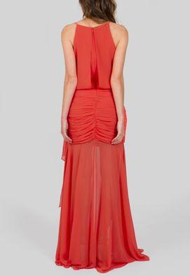 vestido-bahamas-longo-com-quadril-drapeado-powerlook-laranja