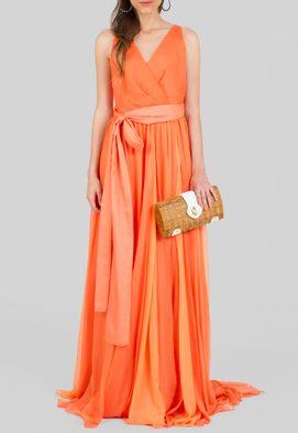 vestido-elcione-longo-decote-transpassado-fluido-corporeum-laranja