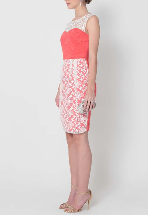 vestido-talisse-curto-sem-mangas-de-renda-roberto-cavalli-coral