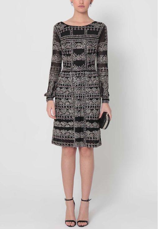 vestido-olga-midi-de-manga-comprida-mikael-aghal-preto