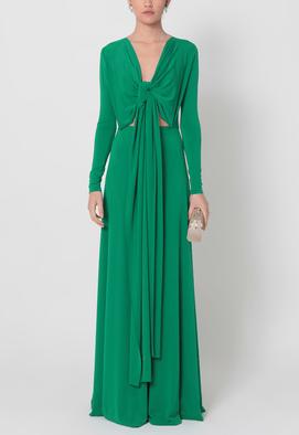 vestido-peacock-longo-de-malha-de-manga-comprida-powerlook-verde