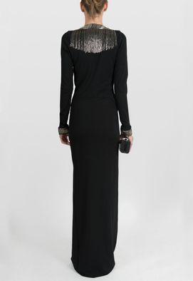 vestido-lunatic-longo-transpassado-de-franjas-mixed-preto