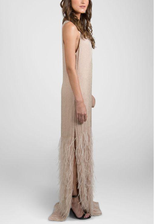 vestido-filipinas-longo-com-plumas-na-barra-powerlook-rosa