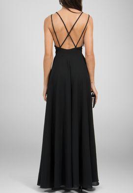 vestido-alma-longo-com-alca-dupla-cruzada-powerlook-preto