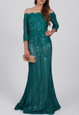 vestido-miller-longo-ombro-a-ombro-de-manga-comprida-powerlook-verde