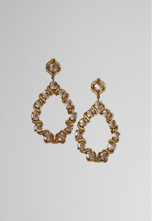 brinco-diamonds-pedras-caramelo-com-dourado-powerlook