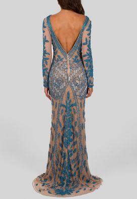 vestido-cinderela-longo-de-manga-comprida-todo-bordado-powerlook-turquesa