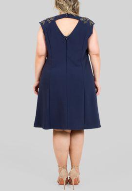 vestido-leon-curto-com-bordado-nas-mangas-powerlook-azul-marinho