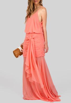 vestido-laus-longo-com-quadril-drapeado-powerlook-pessego