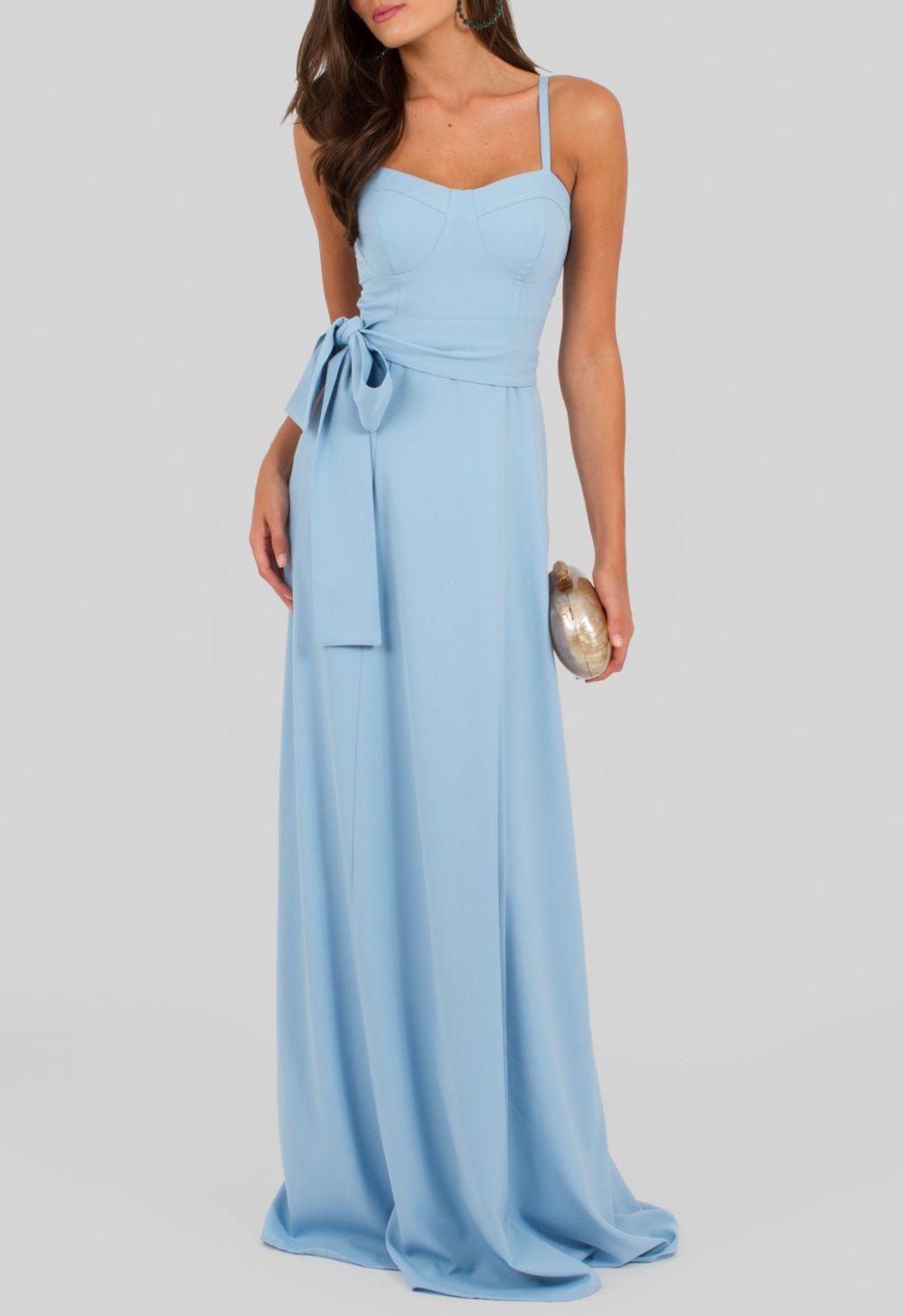 277205043 Vestido longo azul bojo marcado Iorane - powerlook