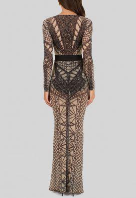 vestido-merina-longo-de-tule-com-aplicacao-pedrinhas-powerlook-nude-e-preto