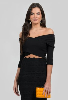 top-cruzado-de-manga-3-4-powerlook-preto