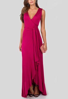 vestido-rouge-longo-transpassado-powerlook-magenta