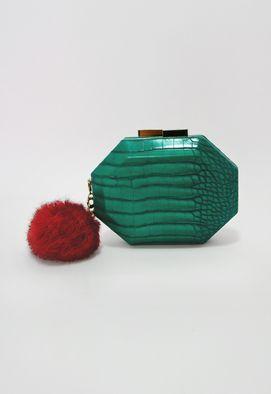 clutch-croco-merlot-com-pompom-isla-verde