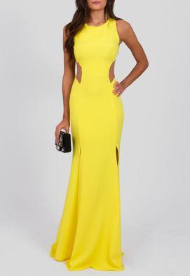 vestido-maju-longo-de-decote-na-lateral-e-fendas-powerlook-amarelo
