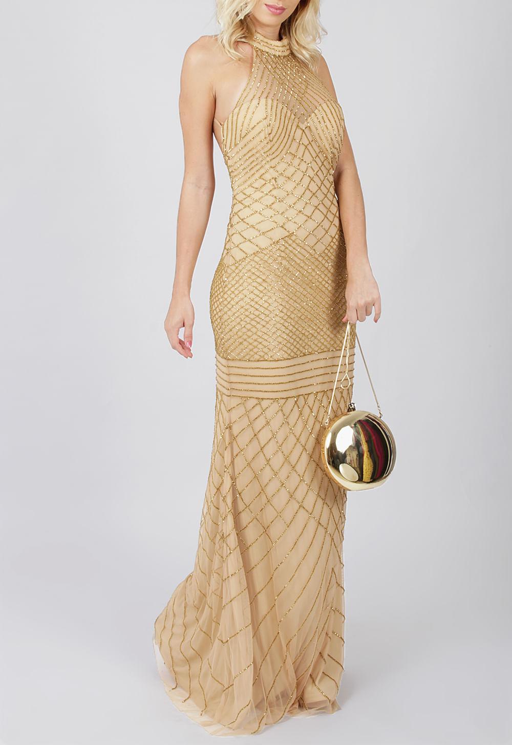 818871ff6 vestido-esperanza-longo-powerlook-dourado ...