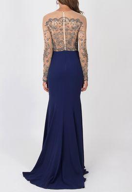 vestido-makena-longo-powerlook-marinho