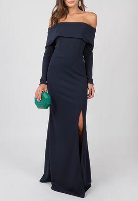 vestido-gleice-longo-powerlook-marinho