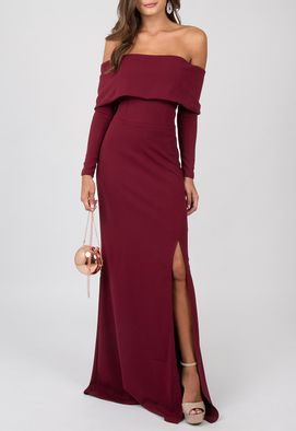 vestido-gleice-longo-powerlook-marsala
