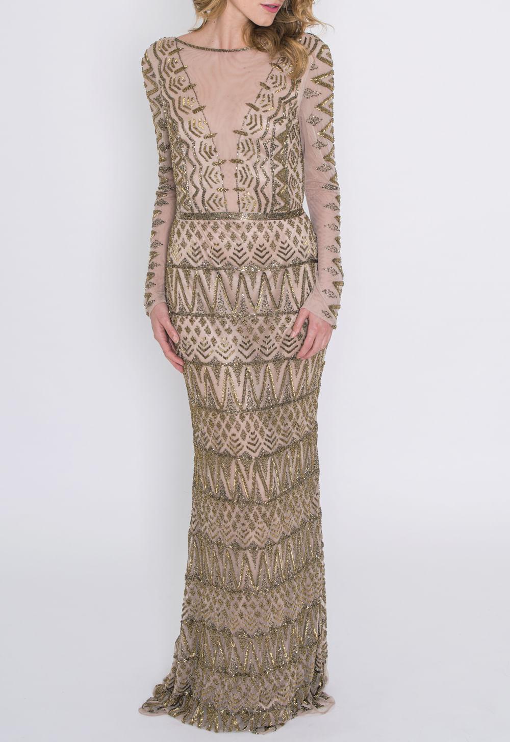 59ad600ef vestido-latte-longo-powerlook-dourado ...