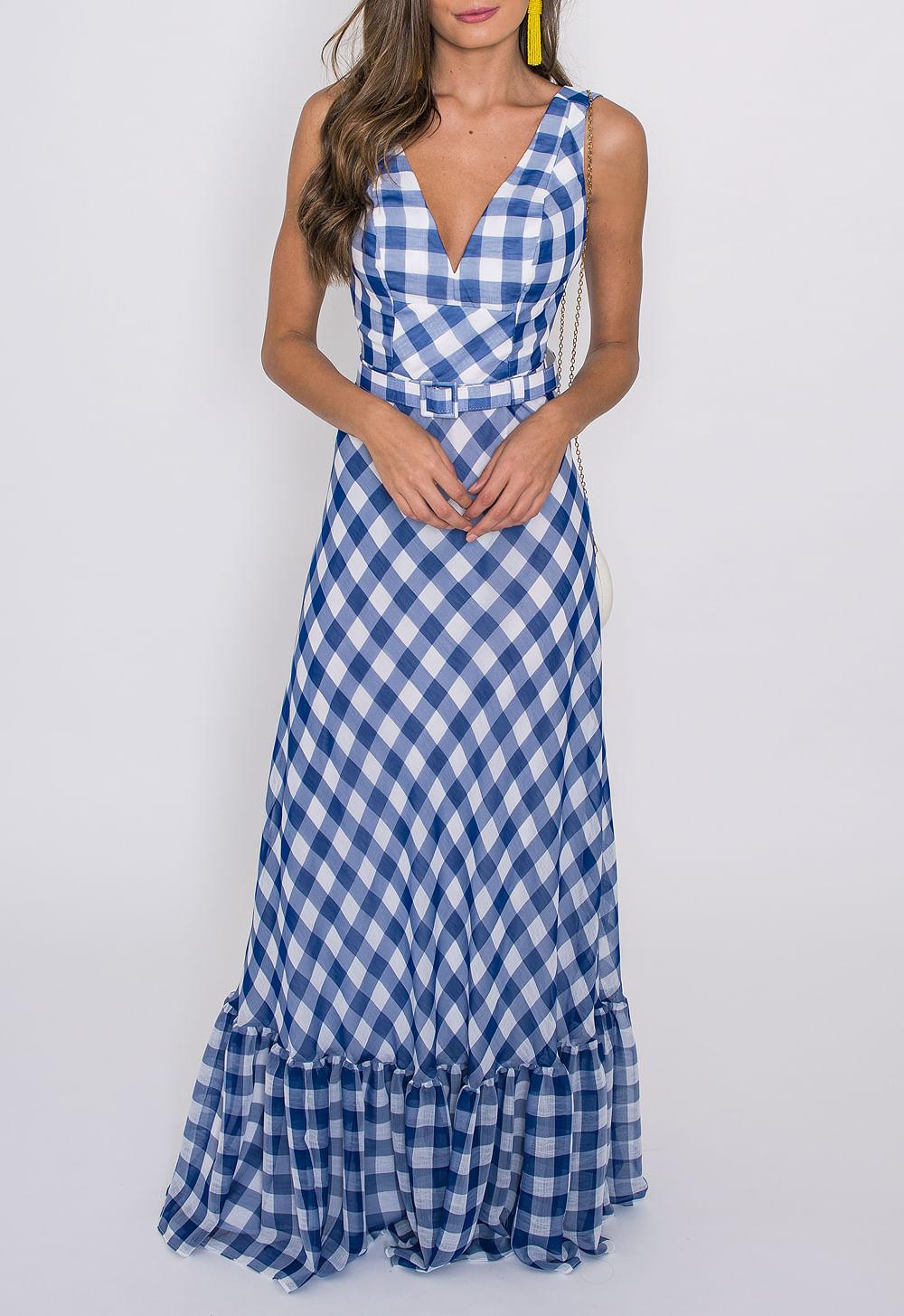 11feaff27 vestido-xadrez-longo-iorane-estampado ...