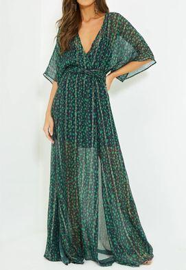 Vestido longo verde para alugar