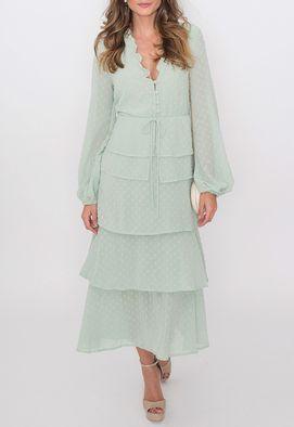 vestido-arezzo-midi-babados-crepe-verde