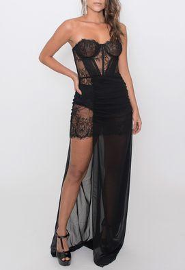 vestido-blanca-longo-busto-corselet-powerlook-preto