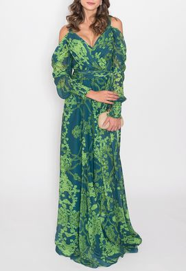 vestido-floresta-longo-powerlook-verde