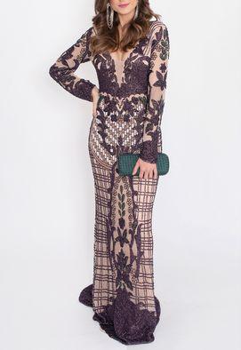 vestido-shiva-longo-powerlook-nude-e-roxo